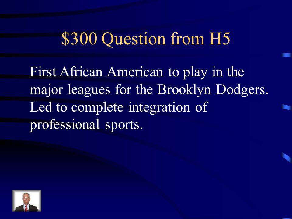 $200 Answer from H5 Truman