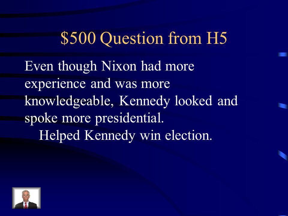 $400 Answer from H5 Sputnik I