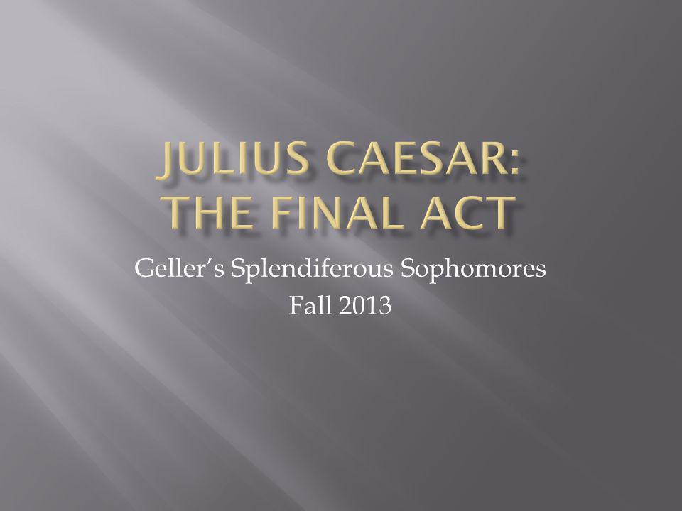 Geller's Splendiferous Sophomores Fall 2013