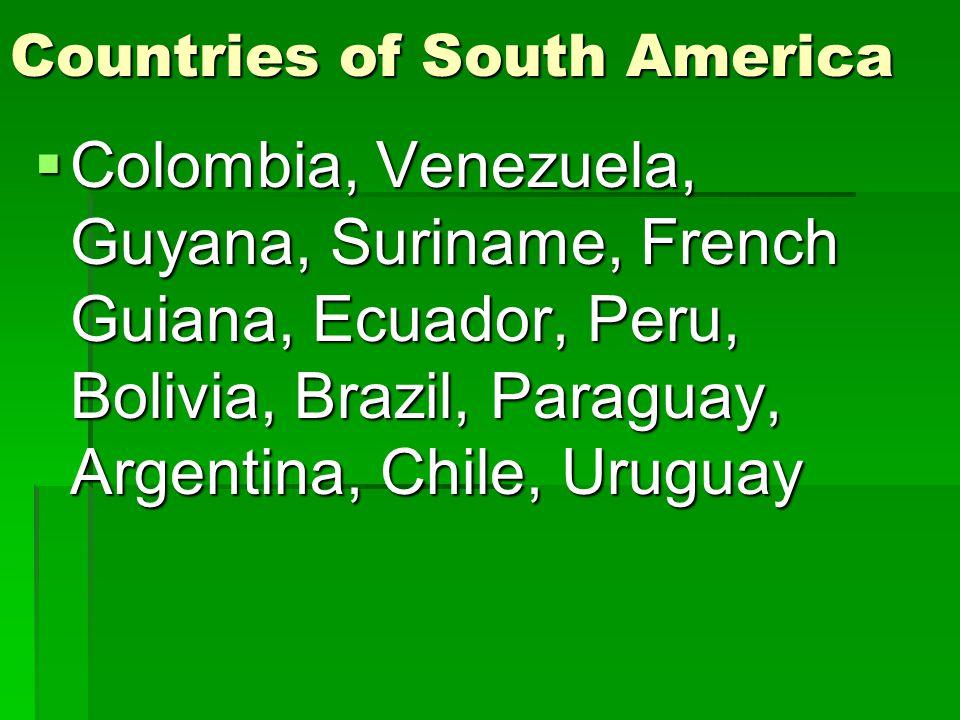 Countries of Mexico and Central America  Mexico, Belize, Guatemala, El Salvador, Honduras, Nicaragua, Costa Rica, Panama