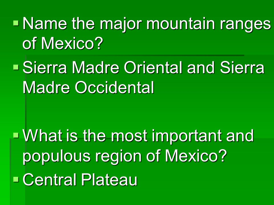 Latin America--Test Review  What is the main language of Latin America.