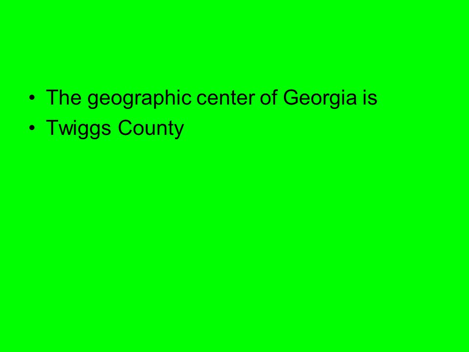 The geographic center of Georgia is Twiggs County