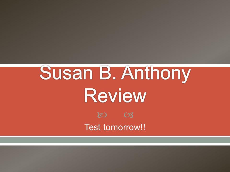  Test tomorrow!!