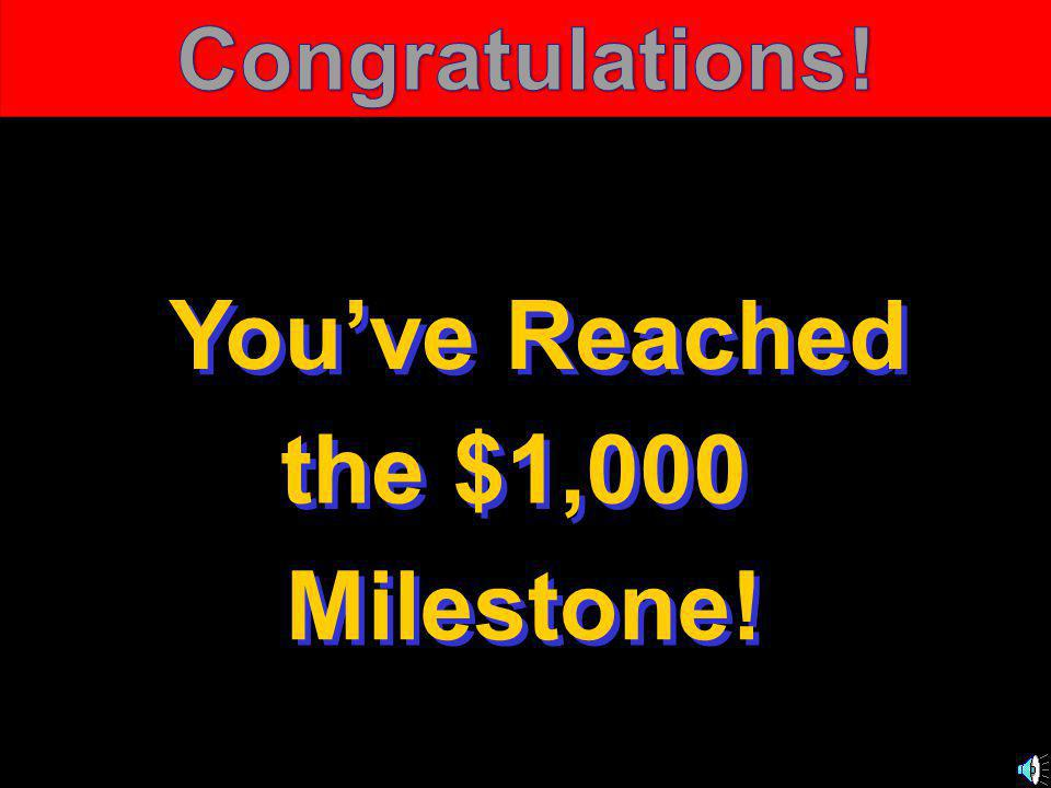 © Mark E. Damon - All Rights Reserved You've Reached the $1,000 Milestone!