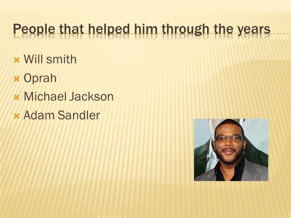  Will smith  Oprah  Michael Jackson  Adam Sandler