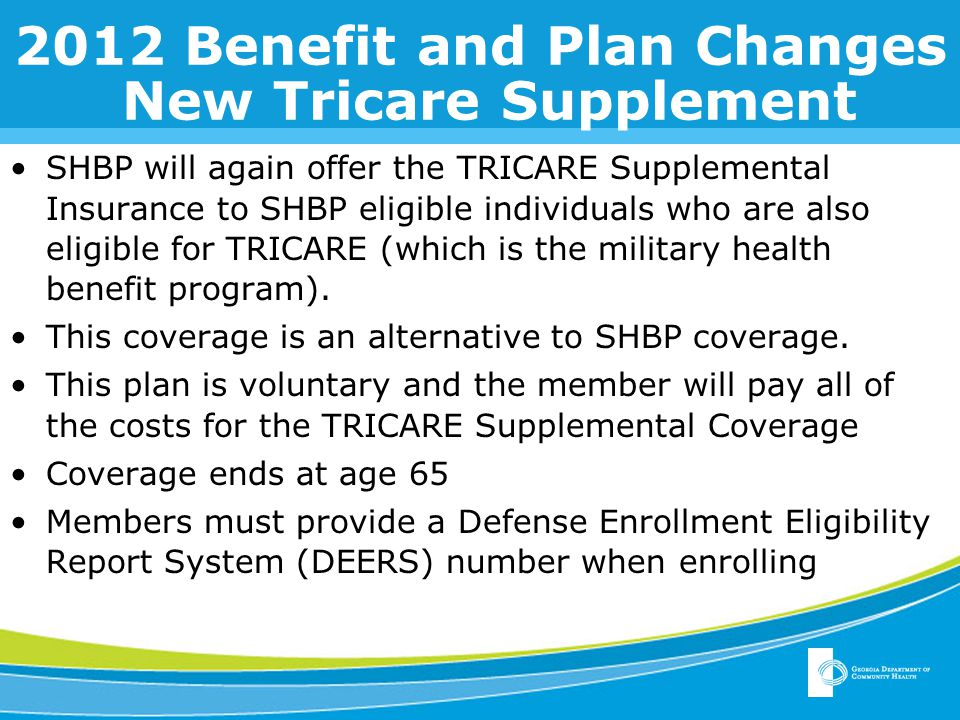 2012 Benefit and Plan Changes HRA Wellness and Standard Plans SHBP HRA Credit Comparison Wellness HRA CreditStandard HRA Credit You $ 500 You + Spouse $ 1,000 You + Child(ren) $ 1,000 You + Family $ 1,500 You $ 375 You + Spouse $ 650 You + Child(ren) $ 650 You + Family $1,000 HRA Deductibles and Out of Pocket Maximums have not changed.