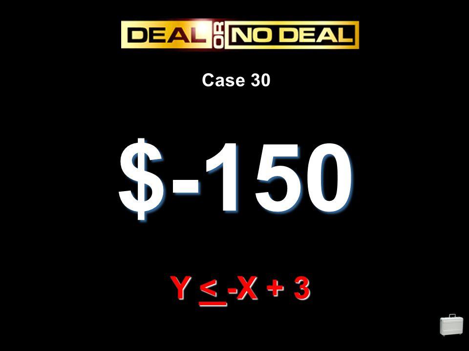 Case 30 $-150 Y < -X + 3