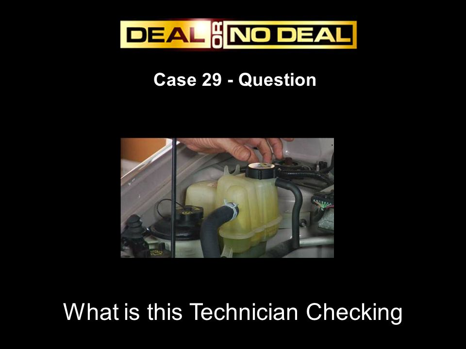 Case 29 - Question What is this Technician Checking