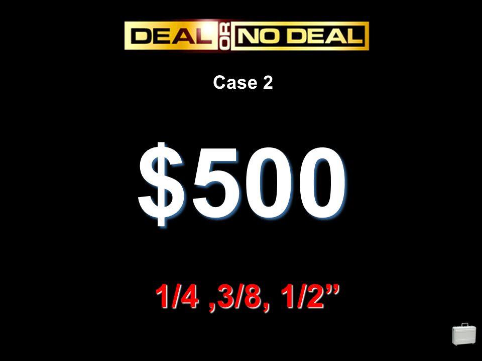 Case 2 $500 1/4,3/8, 1/2