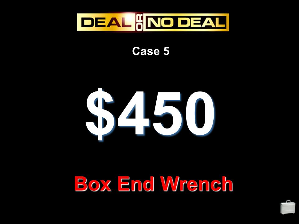 Case 5 $450 Box End Wrench