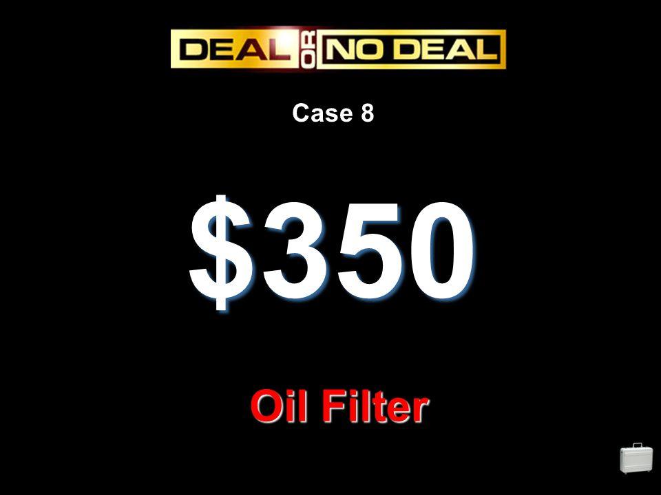 Case 8 $350 Oil Filter