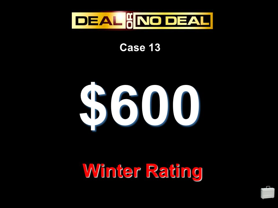 Case 13 $600 Winter Rating