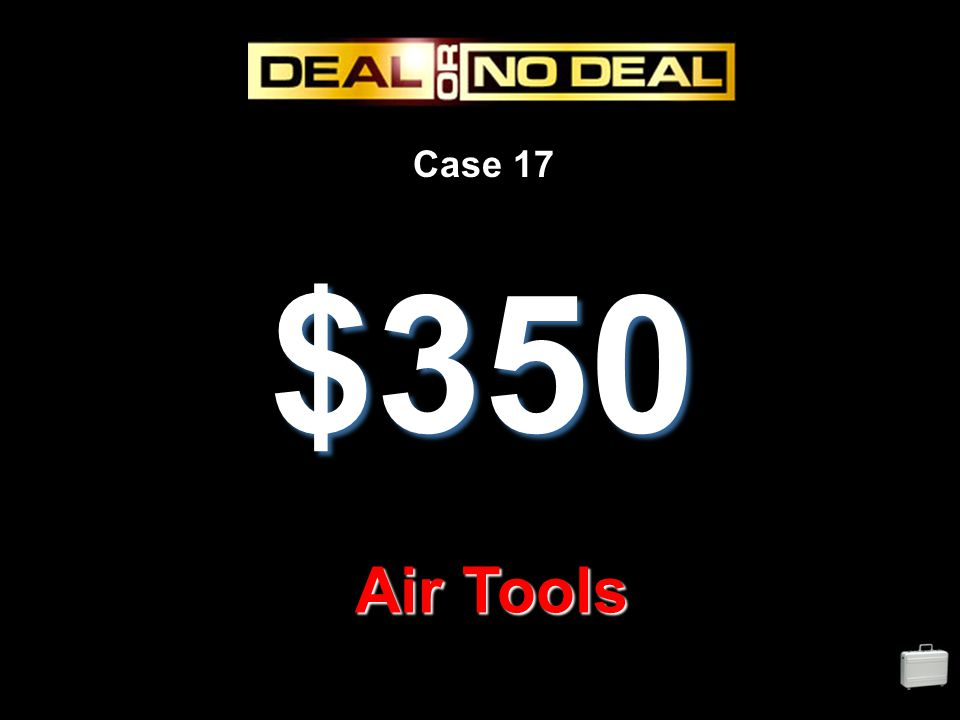 Case 17 $350 Air Tools