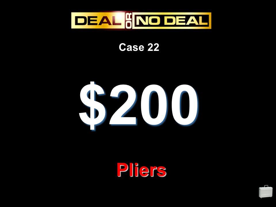 Case 22 $200 Pliers