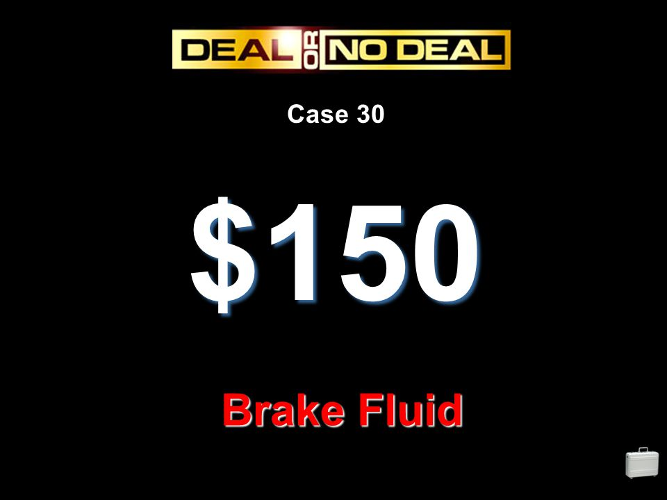 Case 30 $150 Brake Fluid
