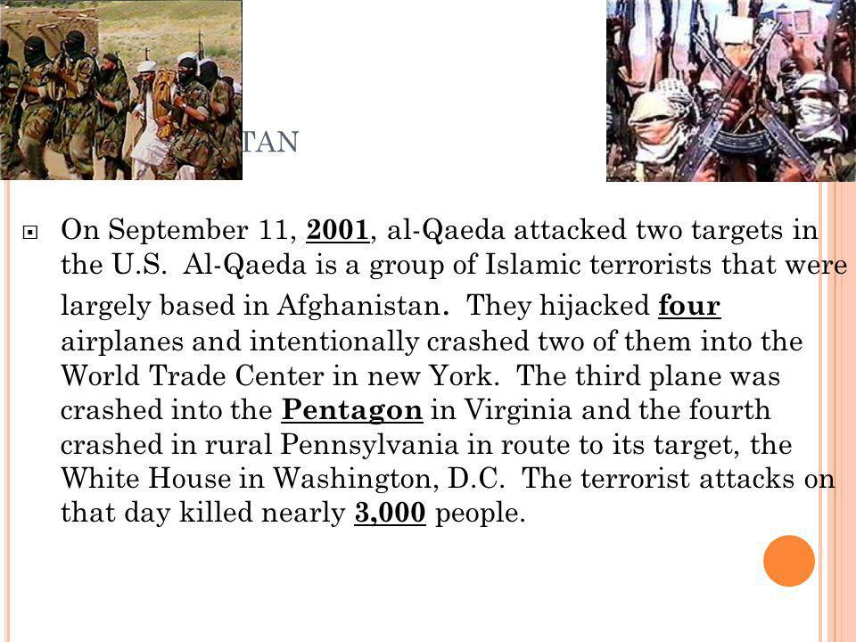  Osama bin Laden was blamed for the attacks, U.S.