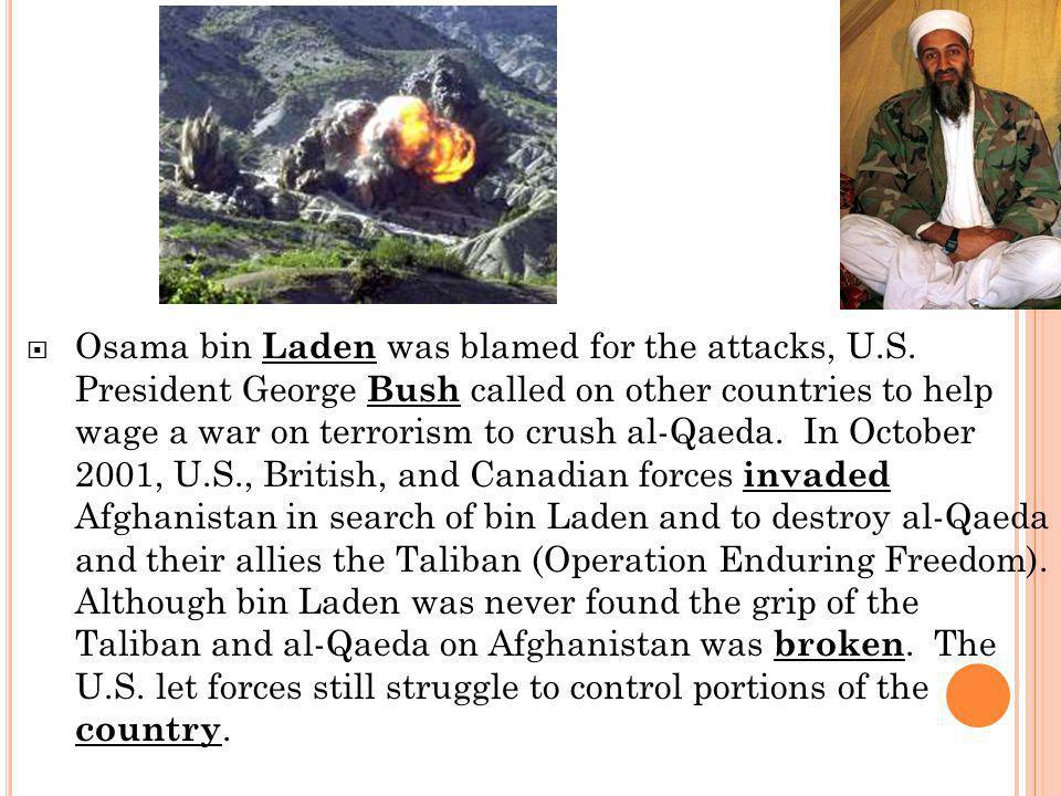 T HE I RAQ W AR 2003 (O PERATION I RAQI F REEDOM )  Saddam Hussein was still president of Iraq at the time of the Afghanistan invasion.