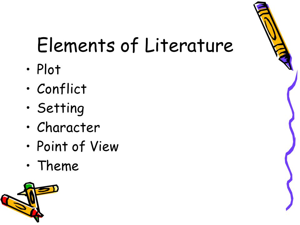 Elements of Literature Plot Conflict Setting Character Point of View Theme