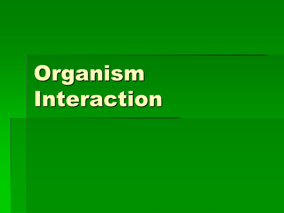 Organism Interaction