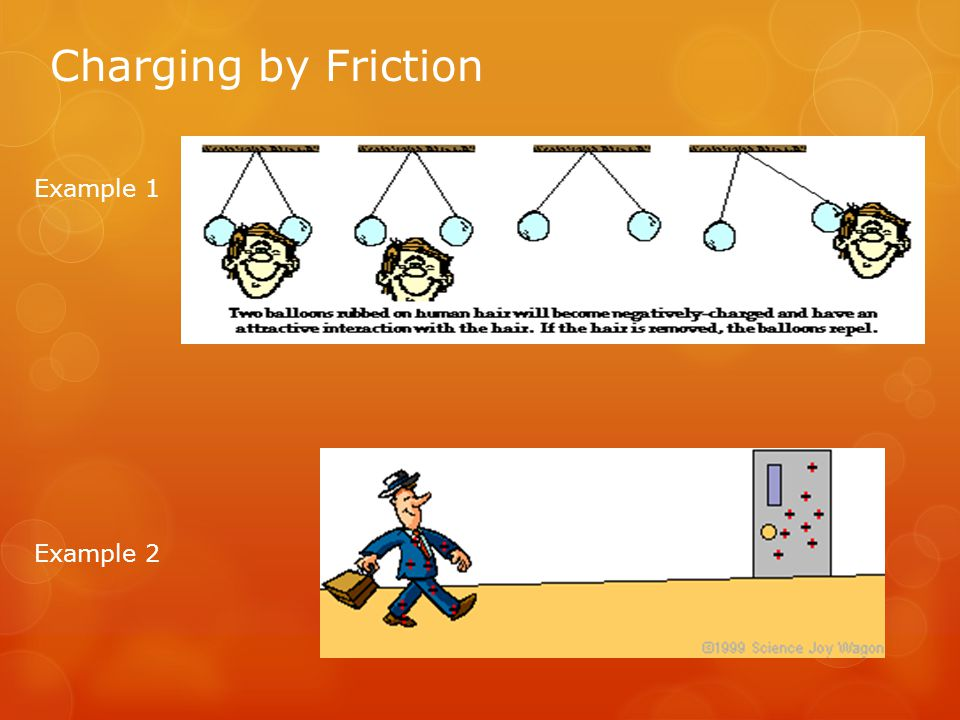 Charging by Friction Example 1 Example 2