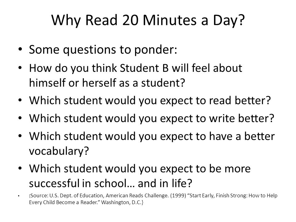 Why Read 20 Minutes a Day.