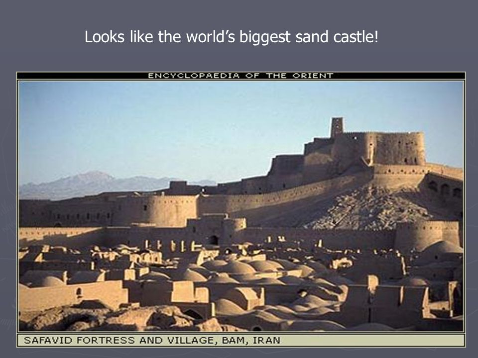 Looks like the world's biggest sand castle!