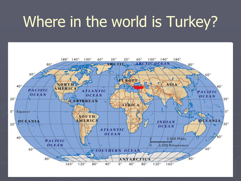 Where in the world is Turkey