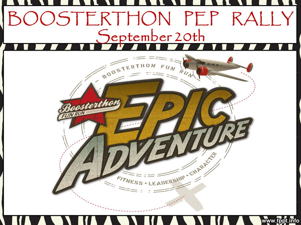BOOSTERTHON PEP RALLY September 20th