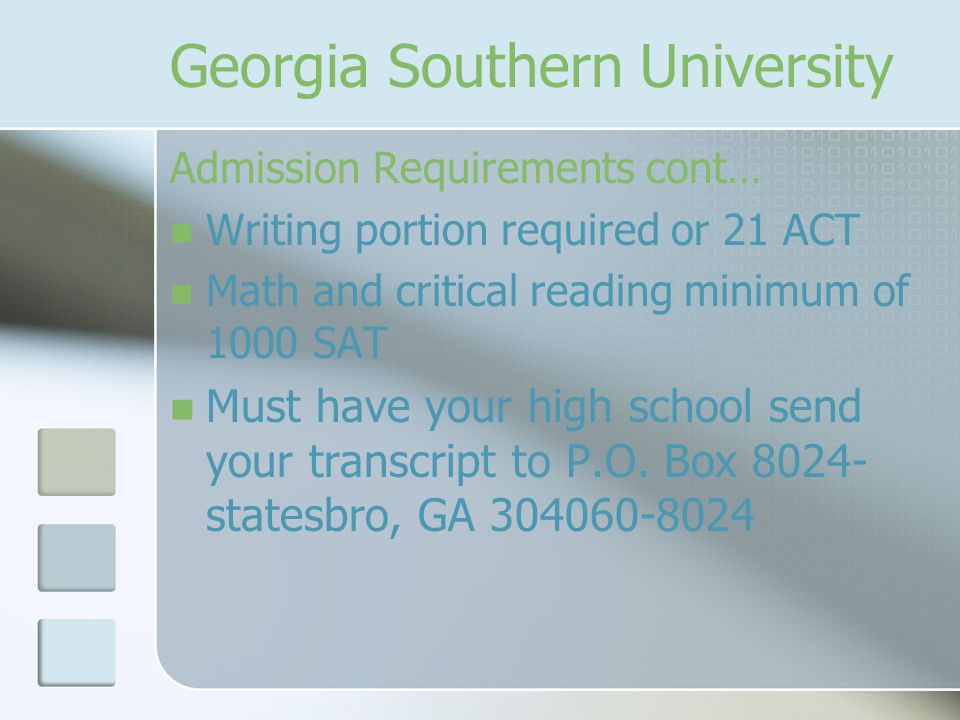 Georgia Southern University Tuition In state - $1,998 Out of state - $7,986 Residence Hall Activity Fee - $20 Parking - $85-$140 Books and Supplies- About $600 Total In state - $6,800 Out of State - $12,880
