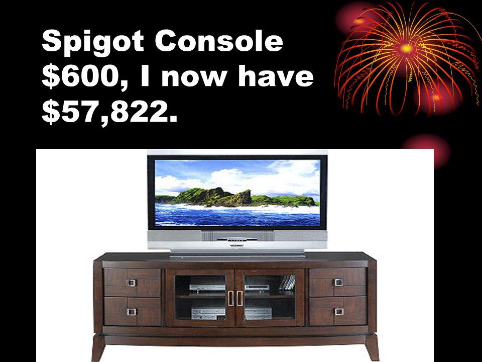 Spigot Console $600, I now have $57,822.