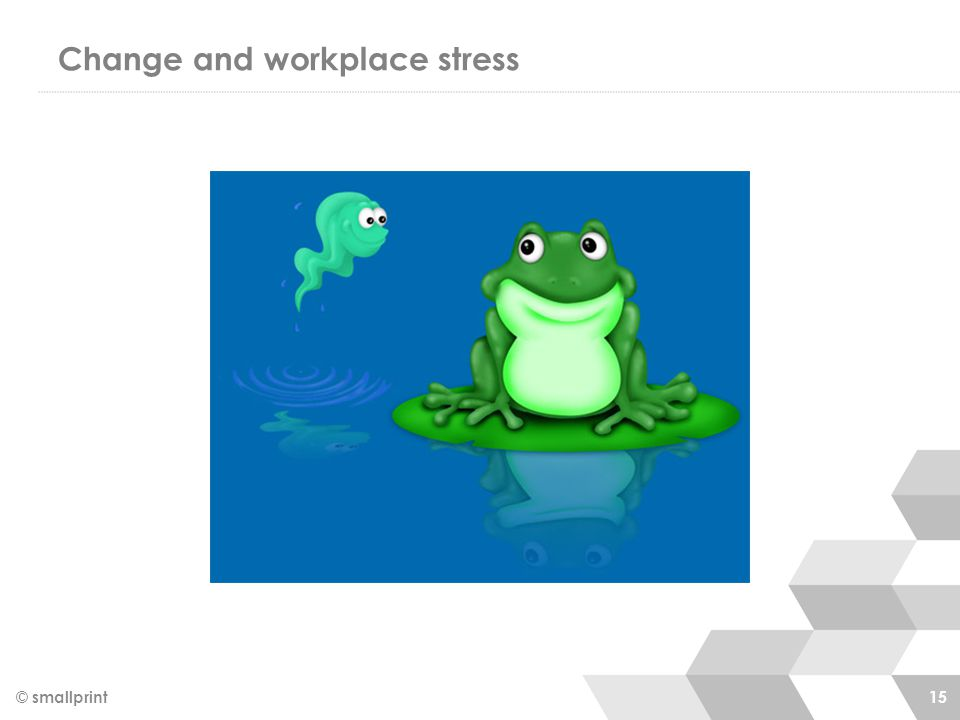 Change and workplace stress © smallprint 15