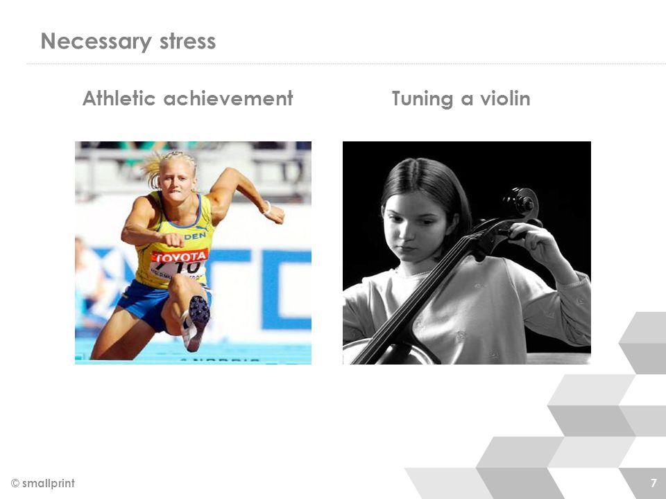 Necessary stress © smallprint 7 Athletic achievement Tuning a violin