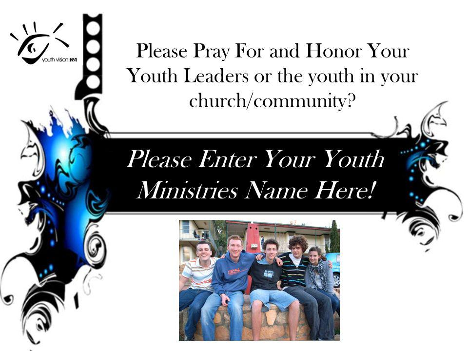 Youth Vision WA Ways you can partner with us.