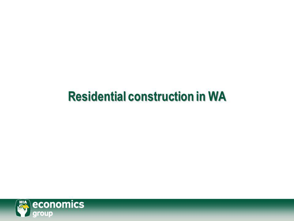 Residential construction in WA