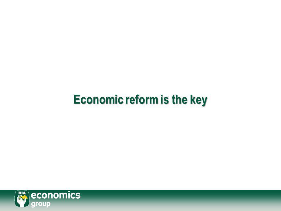 Economic reform is the key