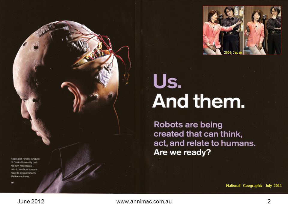 June 2012www.annimac.com.au23 Social Media : interactive user generated content immediate mass access easy to use Definition Social Media : online & mobile tools enabling easy communication via internet to share info & resources Social networking tools Users of the world, unite.