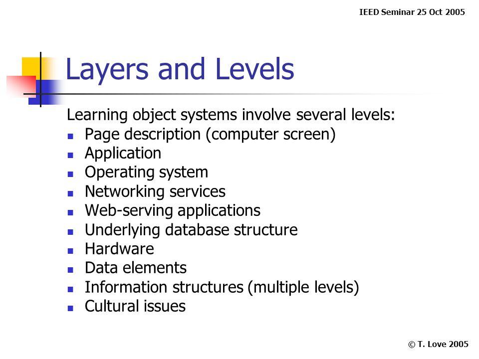 IEED Seminar 25 Oct 2005 © T.