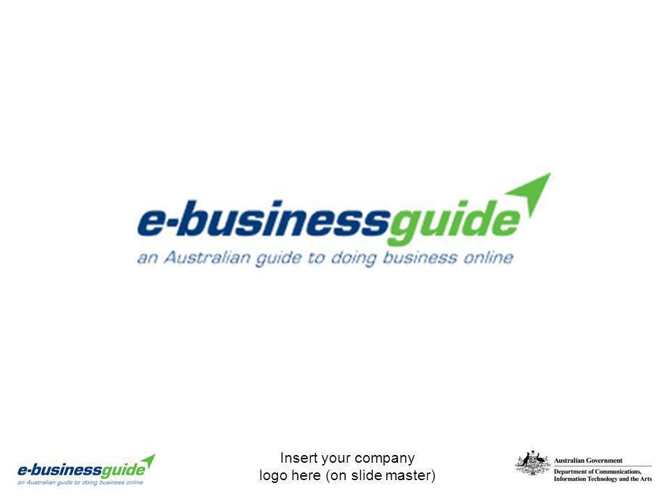 Insert your company logo here (on slide master)
