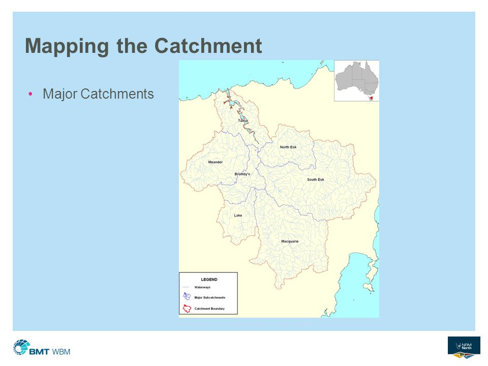 Mapping the Catchment Major Catchments