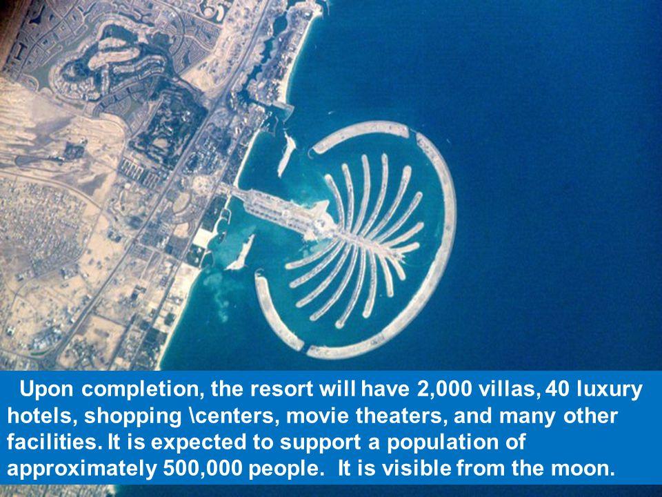 The Palm Islands in Dubai.