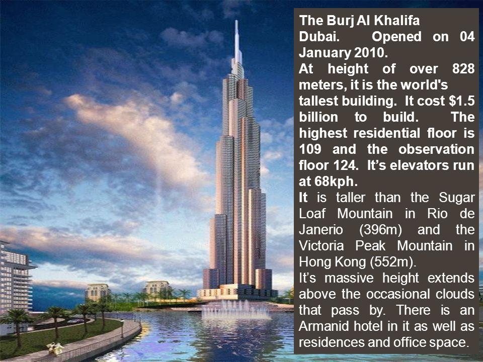 BurAl Arab The Burj al-Arab hotel in Dubai. The worlds tallest hotel.