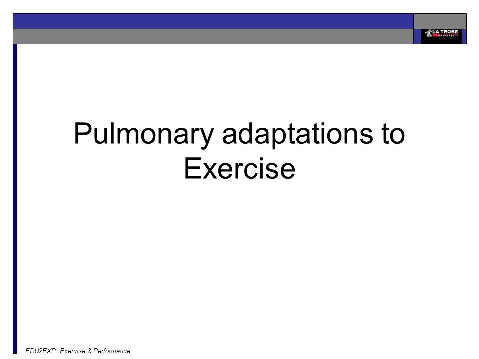 EDU2EXP Exercise & Performance Pulmonary adaptations to Exercise