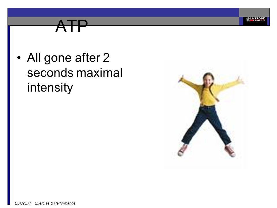 EDU2EXP Exercise & Performance ATP All gone after 2 seconds maximal intensity
