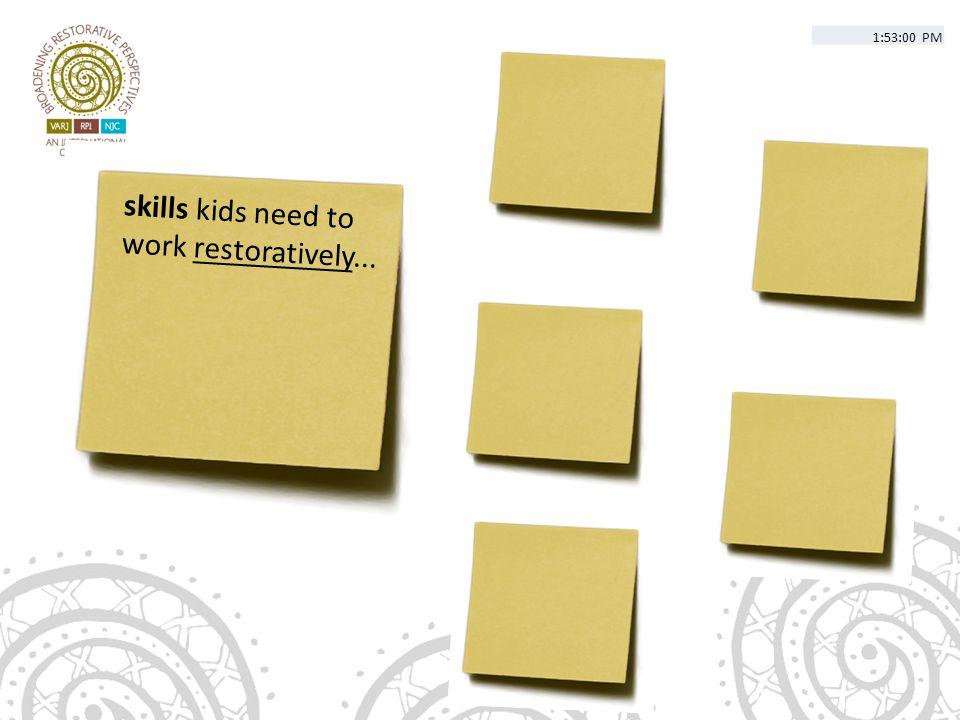 skills kids need to work restoratively... 1:53:00 PM