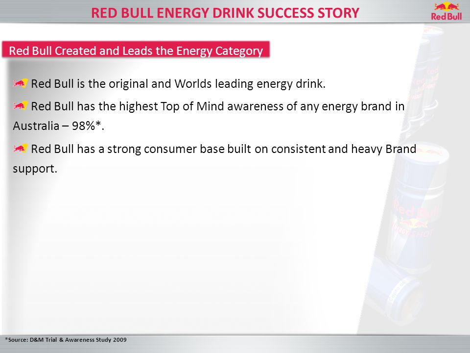 HOW WILL RED BULL MEET THE CONSUMER NEEDS.