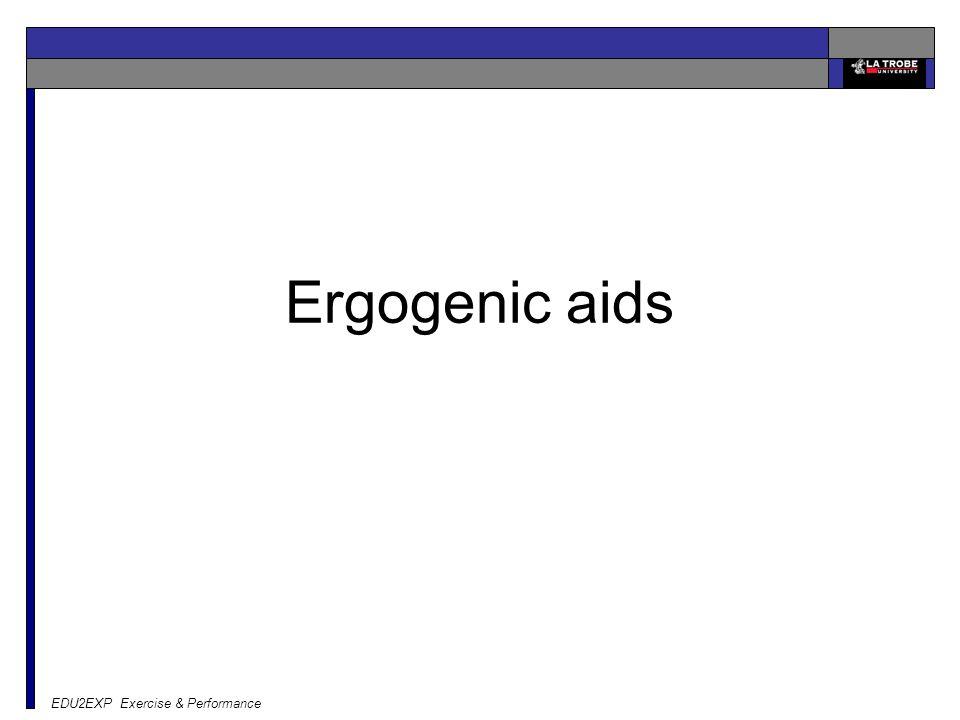 EDU2EXP Exercise & Performance Ergogenic aids