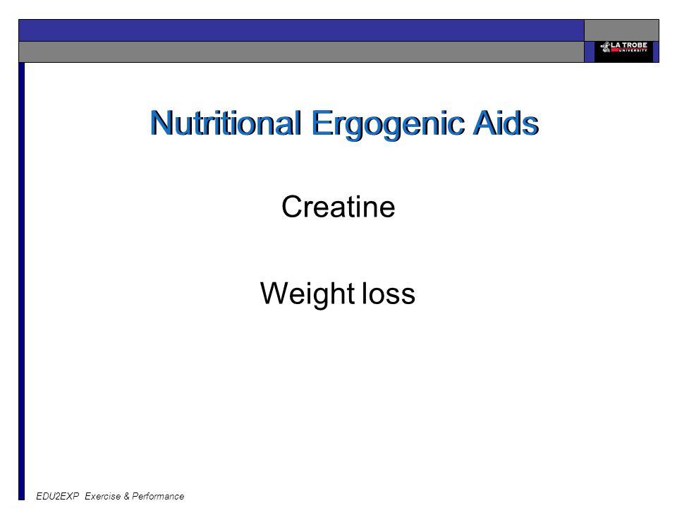 EDU2EXP Exercise & Performance Nutritional Ergogenic Aids Creatine Weight loss