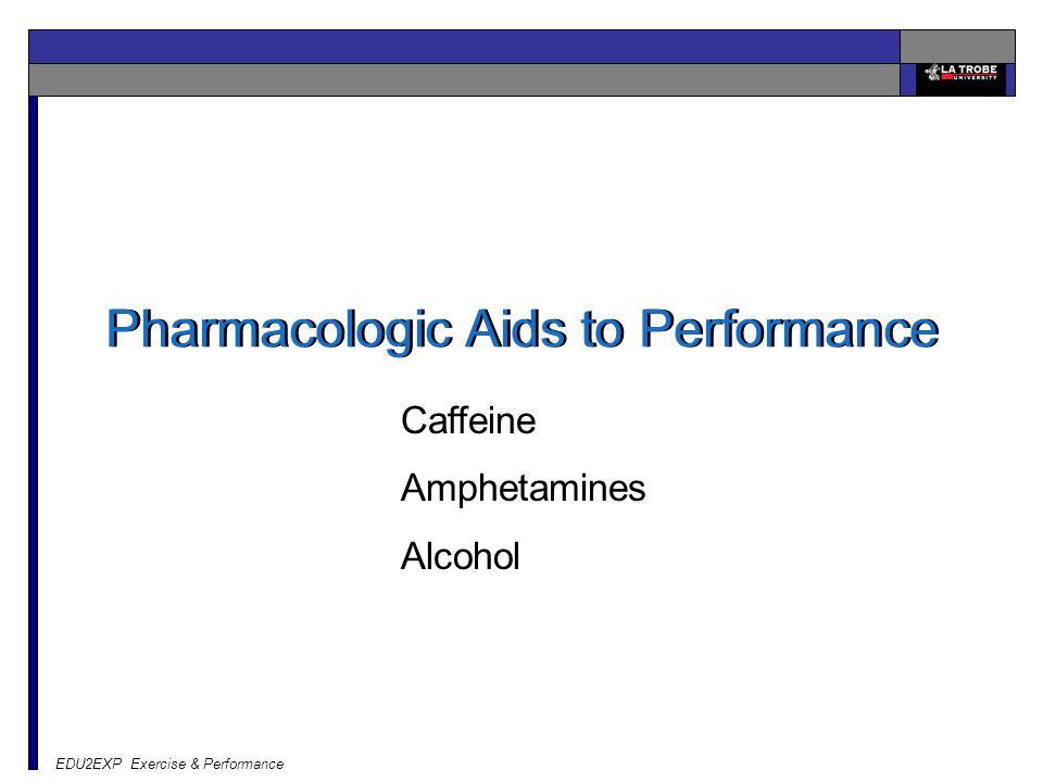 EDU2EXP Exercise & Performance Pharmacologic Aids to Performance Caffeine Amphetamines Alcohol