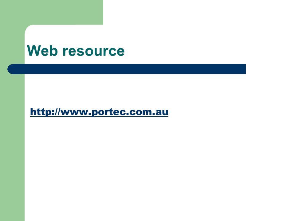 Web resource http://www.portec.com.au