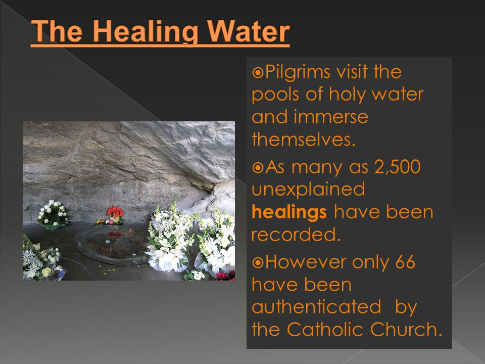  Pilgrims visit the pools of holy water and immerse themselves.